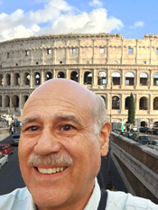 Stephen Cervantes at the Roman Coliseam